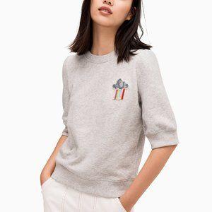 NWT Kate Spade Rain / Shine grey sweatshirt, L